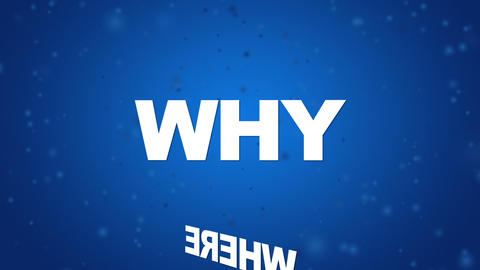 Where, What, How, Why, When, Who Stock Video Footage