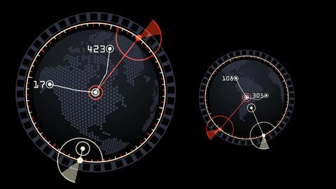 GPS,earth Map,city Map,military Radar GPS Screen Display,navigation Interface stock footage