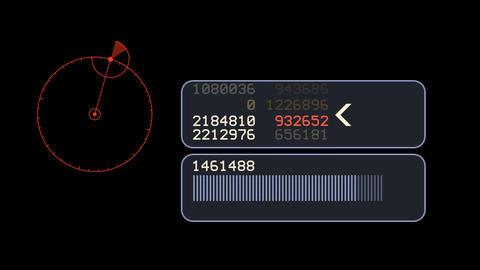 aviation radar GPS navigation screen display & scroll... Stock Video Footage