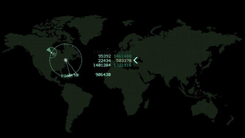 global GPS & data detect schedule,earth map &... Stock Video Footage