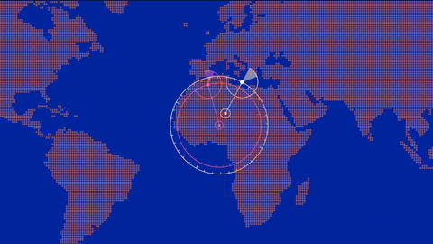 global GPS & search schedule,earth map & military Radar GPS screen displ Animation
