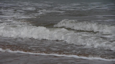 timelapse tidal,Ocean waves on the beach Stock Video Footage