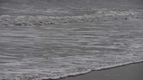 timelapse tidal,Ocean waves on the beach Stock Video Footage