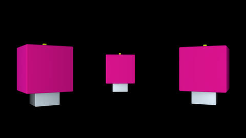 3D gummy box dance with alpha Animation