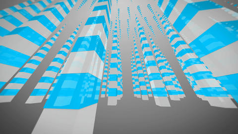 blue dancing cube Stock Video Footage