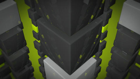 glossy green cube Stock Video Footage