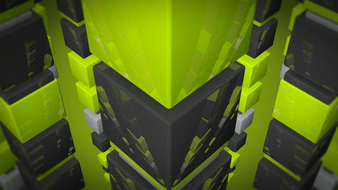 glossy green cube Animation