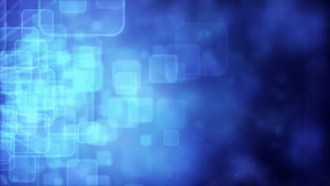 Motion background with animated squares, blue tint Stock Video Footage