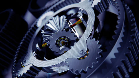 Animation of cogs working together Stock Video Footage