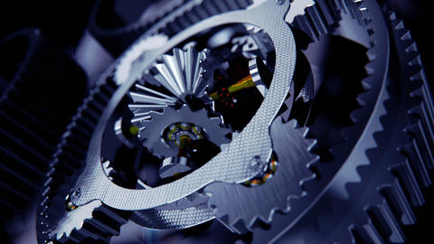 Animation of cogs working together Animation