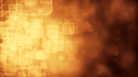 Motion background with animated squares, gold tint Animation