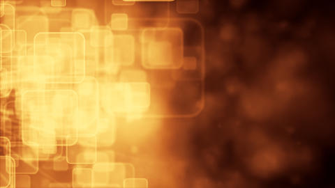Motion background with animated squares, gold tint Stock Video Footage