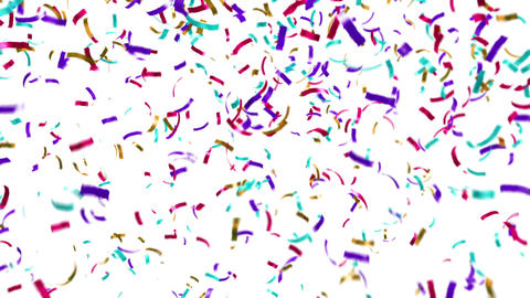 Loopable clip of colorful confetti falling Stock Video Footage