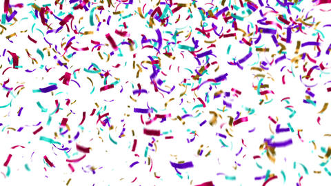 Loopable clip of colorful confetti falling Animation