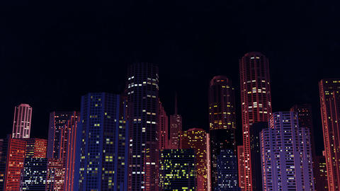 City scene by night Animation