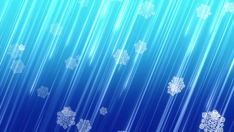 Christmas snowflakes falling on blue background Stock Video Footage
