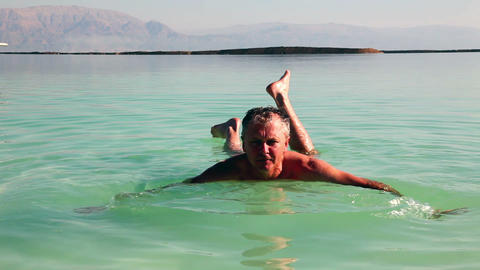 Rest of the Dead Sea Stock Video Footage