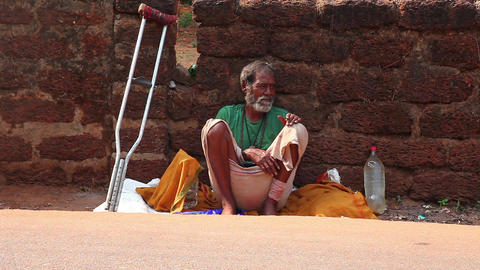 Indian homeless Stock Video Footage