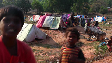 Poverty in India Footage