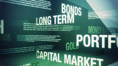 Money and Investing Related Terms Stock Video Footage
