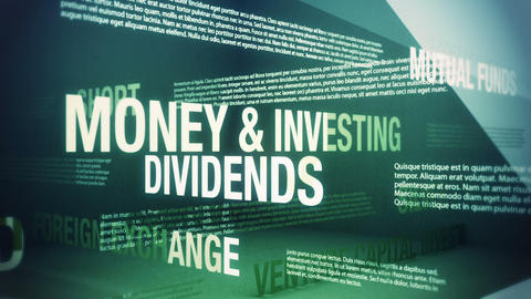 Money And Investing Related Terms stock footage