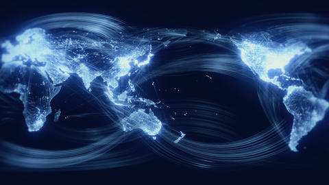 Networked World Seamless Loop Blue Stock Video Footage