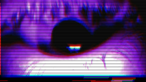 Close Eye Vj Loop CG動画素材