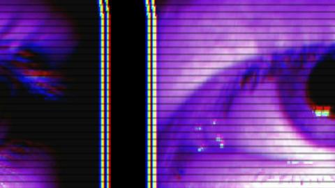 Close Eye Vj Loop Stock Video Footage