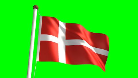 Denmark flag Stock Video Footage