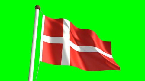 Denmark flag Animation