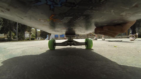 Sport Skateboard Skateboarding Low POV Happy Fun Enjoyable Exercise Activity stock footage