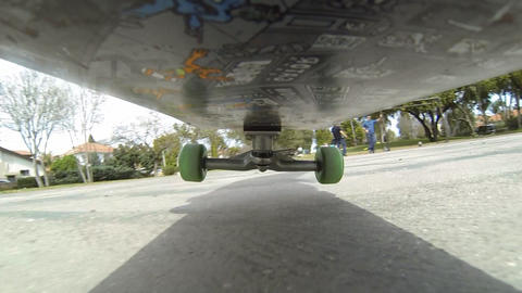 Sport Skateboard skateboarding low POV happy fun enjoyable exercise activity Footage