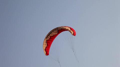Parachute close up Stock Video Footage