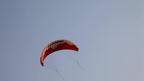 Parachute close up Stock Video Footage
