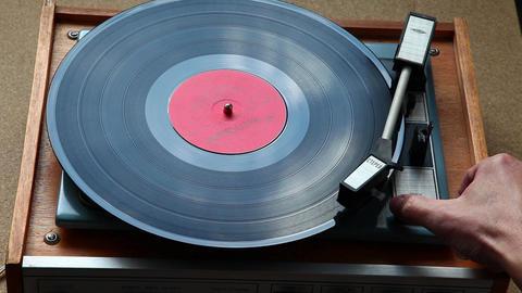 Old vinyl player Footage