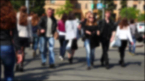People crossing a street Stock Video Footage