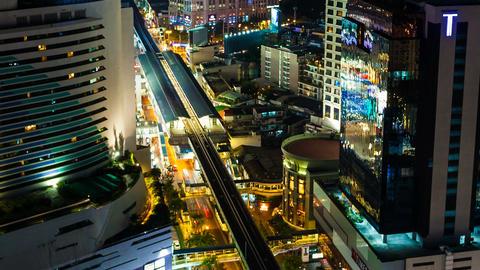 CITY NIGHT SKYLINE TIMELAPSE Stock Video Footage