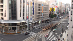 Main road in central Hiroshima - Japan Stock Video Footage