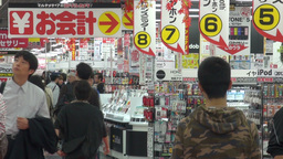 Electronics store in Osaka in Japan Stock Video Footage