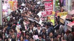 Busy shopping street in Tokyo Stock Video Footage