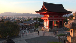 Time lapse video of people visiting Kiyomizu templ Stock Video Footage