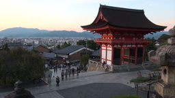 Time lapse video of people visiting Kiyomizu templ Footage