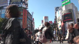 'Shibuya 109' department store and the famous cros Footage