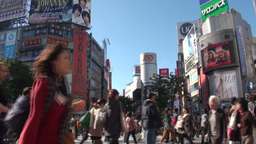 'Shibuya 109' department store and the famous cros Stock Video Footage