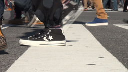 Busy Shibuya Intersection, Feet And Legs, Tokyo, J stock footage
