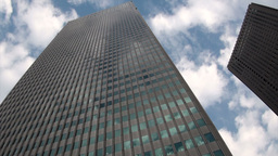 Tokyo office towers time lapse Stock Video Footage
