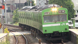 Local commuter train in Kyoto, Japan Footage