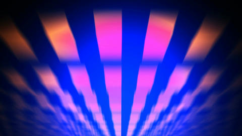 retro flying lights Animation