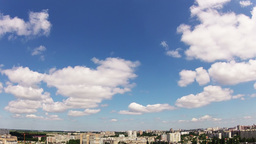 Quick clouds over the city. Timelapse Stock Video Footage
