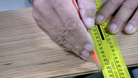 Sawing laminate Stock Video Footage
